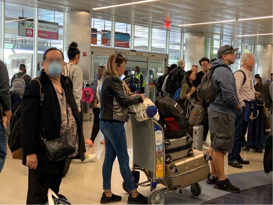 アメリカの空港の様子