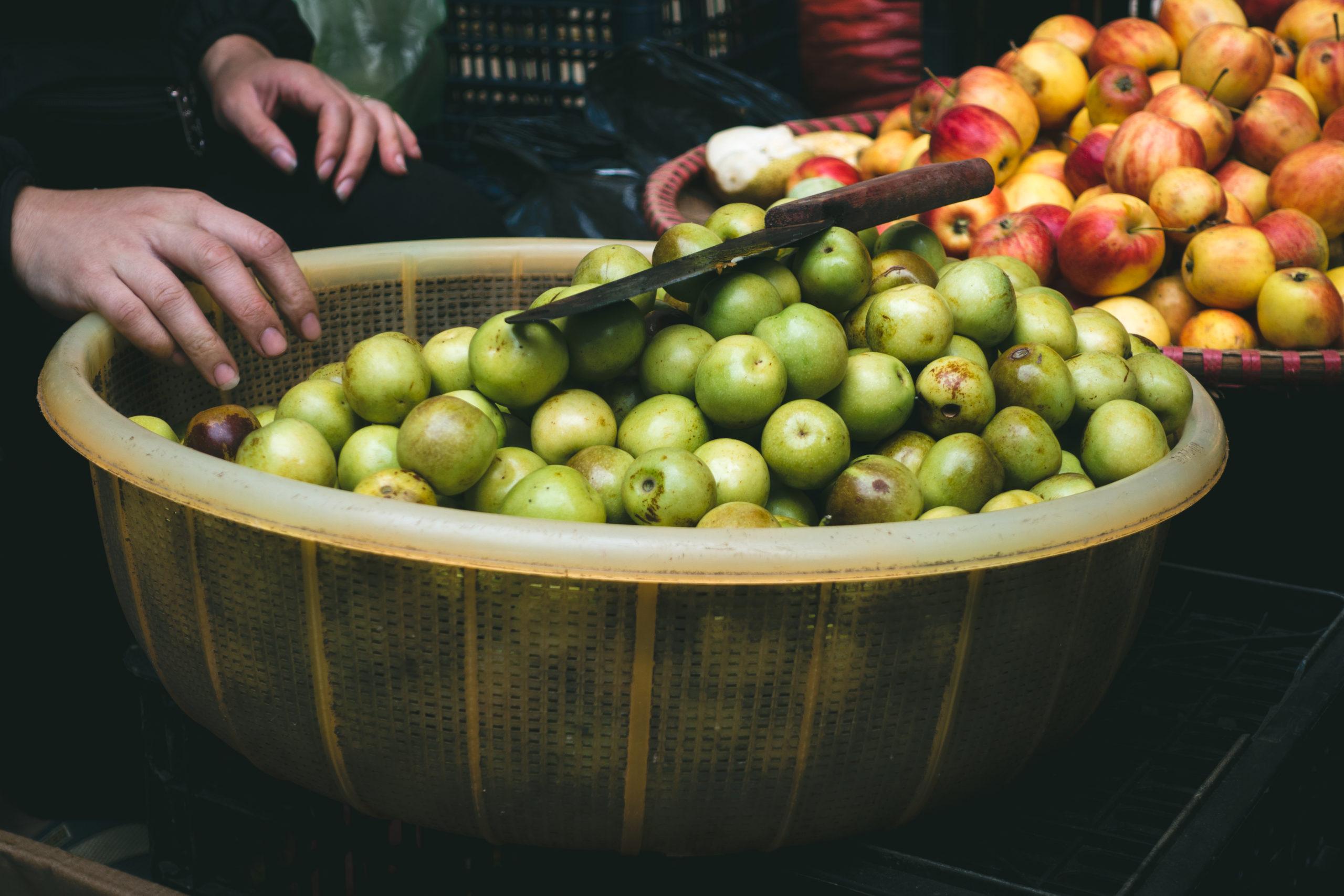 市場の林檎