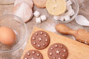 砂糖たっぷりのクッキー