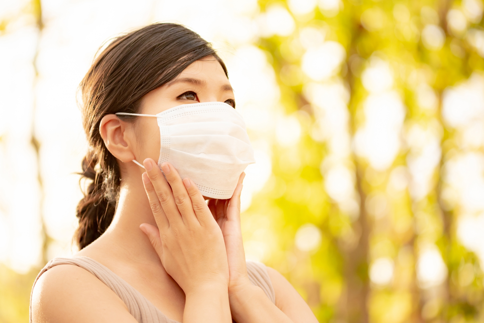 マスクによる乾燥を乗り越えた女性