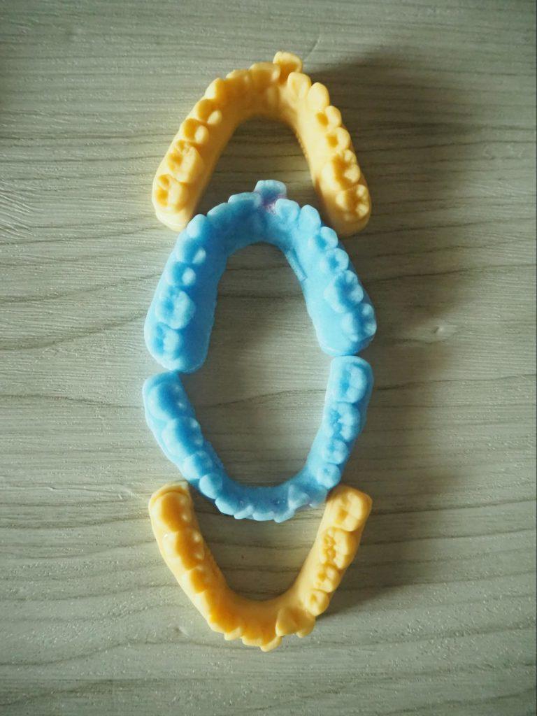 1ターン目と4ターン目の歯型