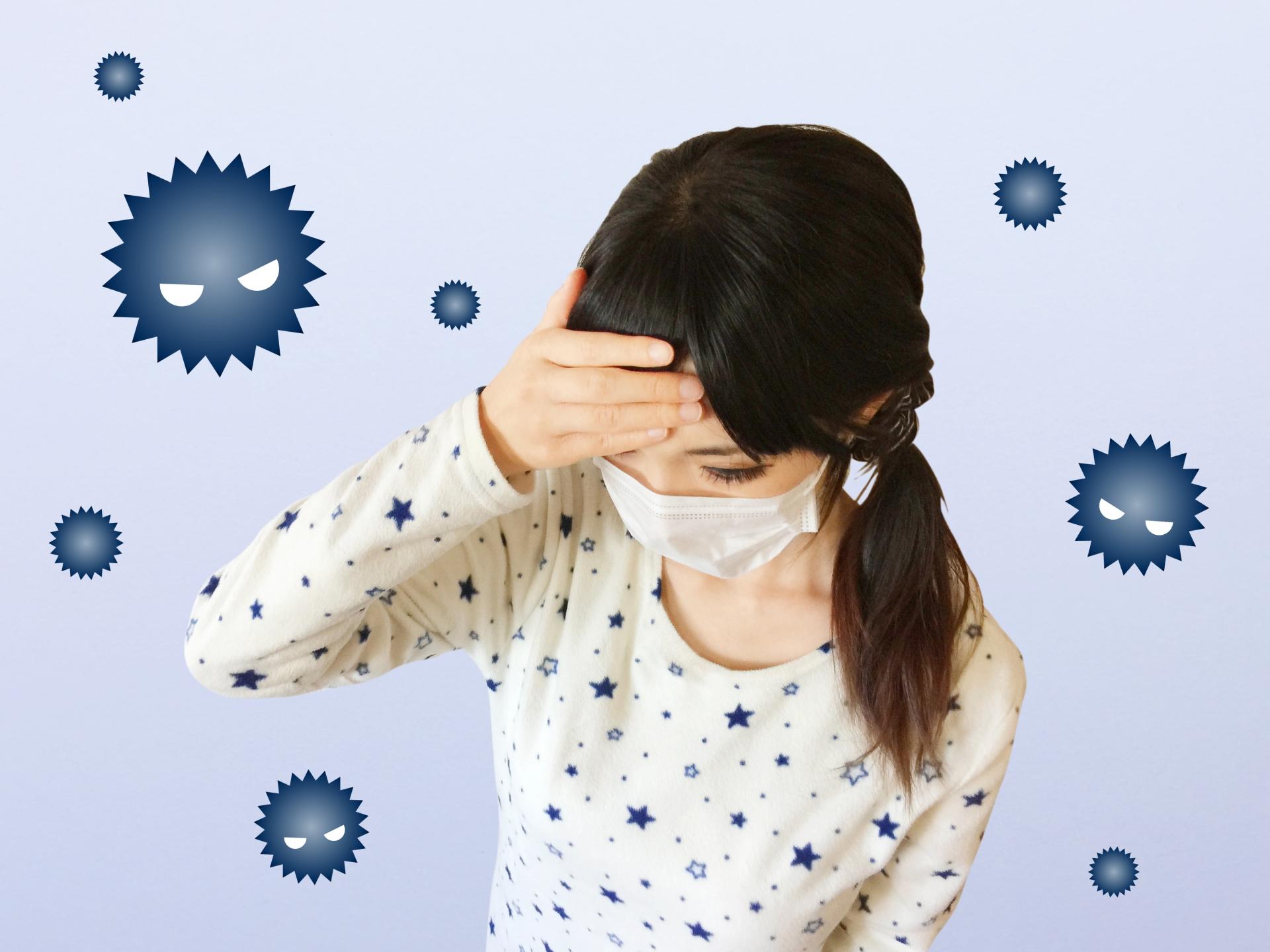 ウイルス感染重症化した女性