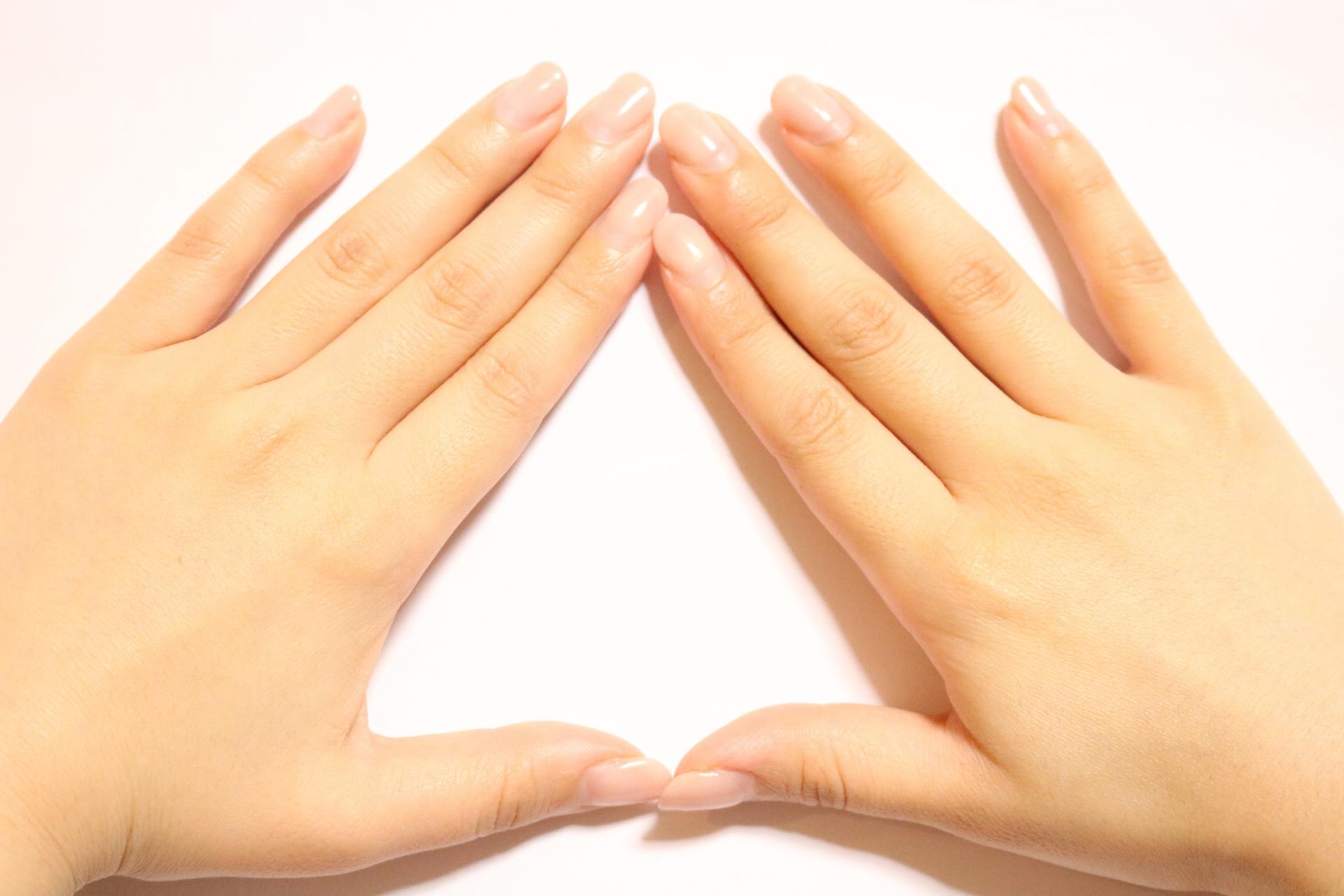 二枚爪を直した綺麗な手