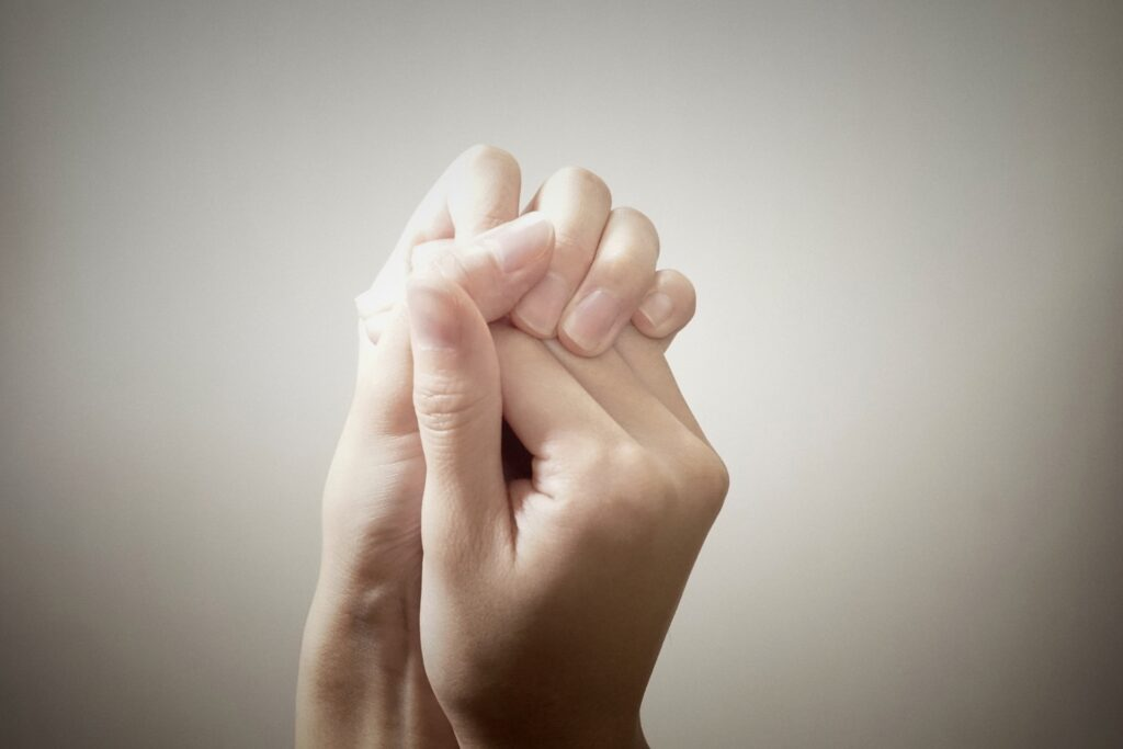 冷え性の手