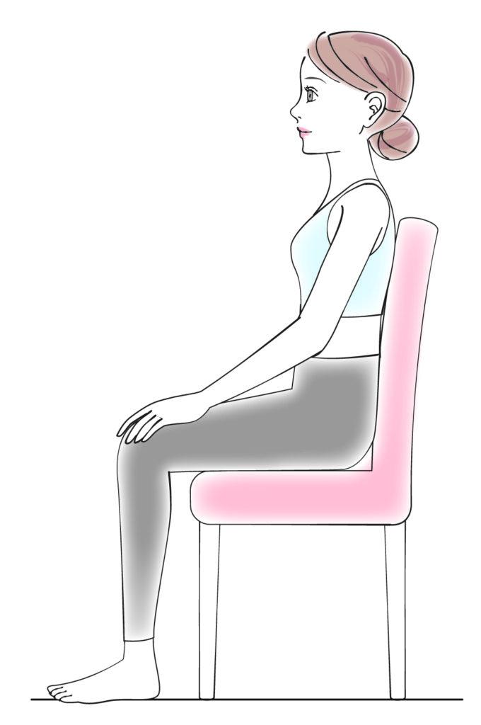 座っている時の正しい姿勢