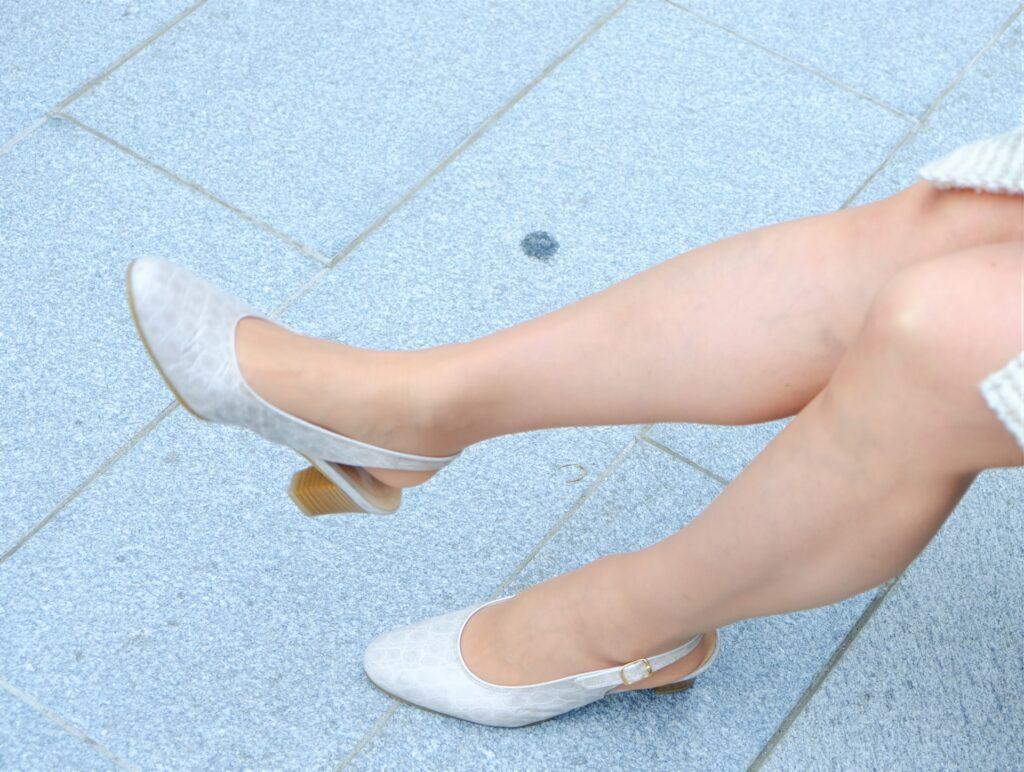 足のストレッチ
