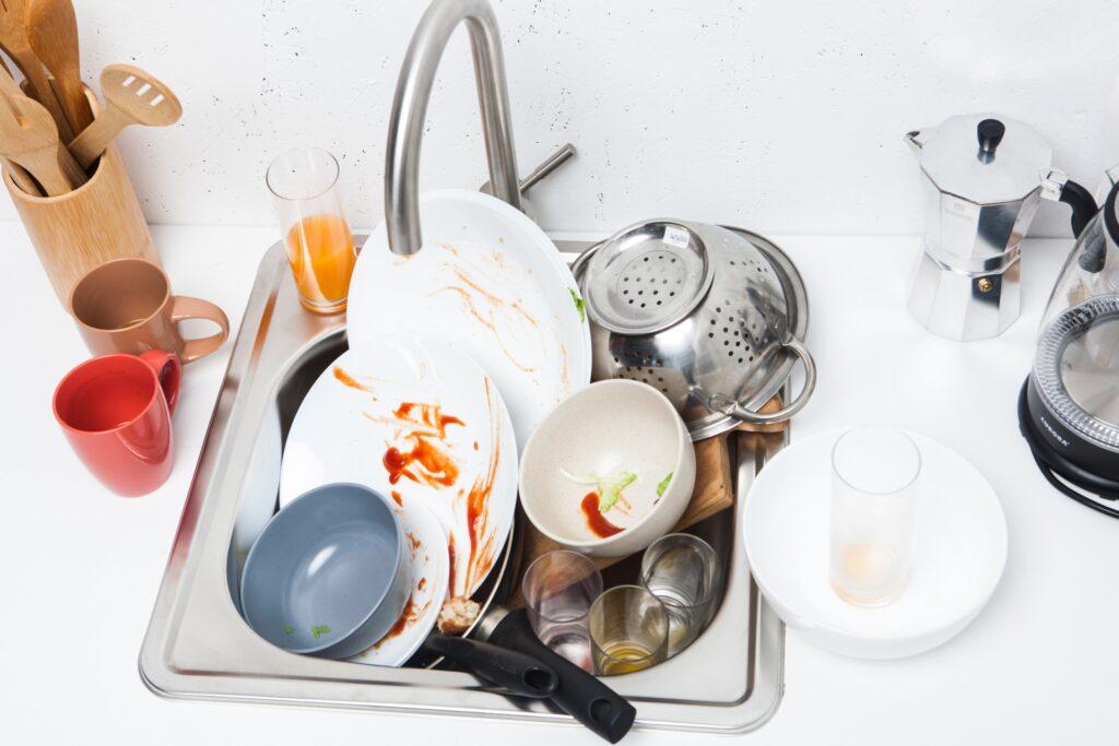 家事問題 溜まった洗い物