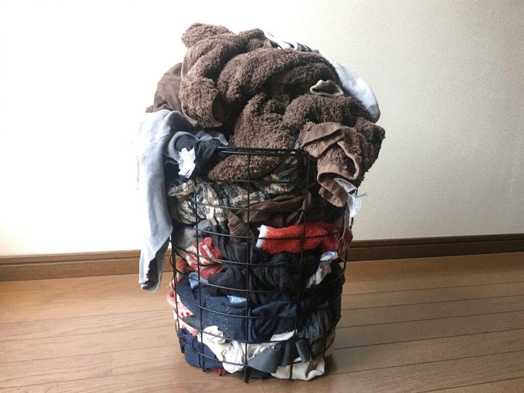 家事問題 溜まった洗濯物