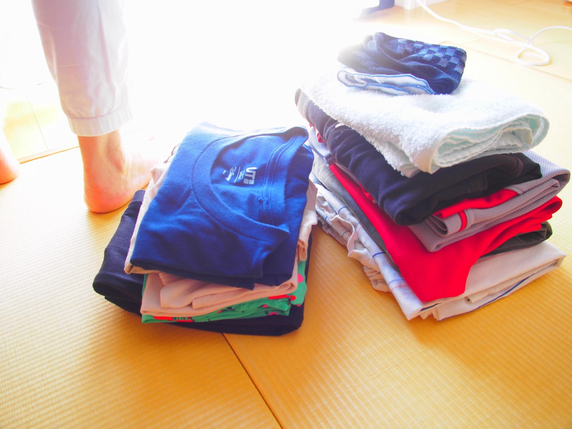 家事ストレス 綺麗に畳まれた洗濯物