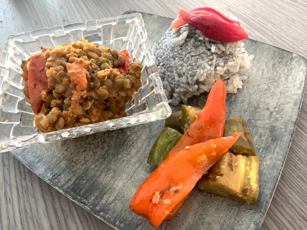 レンズ豆のスパイスカレー
